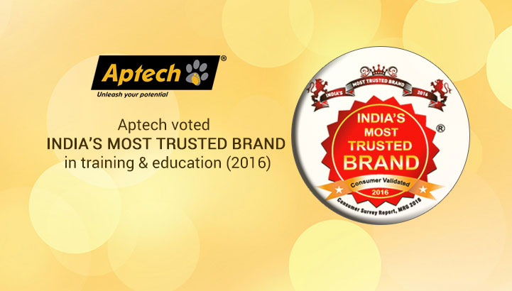Aptech voted India most trusted brand in training & education