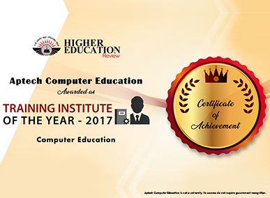 Aptech listed as 'Training Institute of the Year 2017'